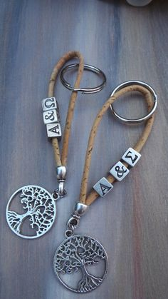Custom by AllAboutEveCreations Personalized key rings. Custom by AllAboutEveCreations Handmade Keychains, Diy Keychain, Handmade Jewelry, Leather Jewelry, Beaded Jewelry, Bijoux Diy, Key Fobs, Jewelry Crafts, Gifts For Mom