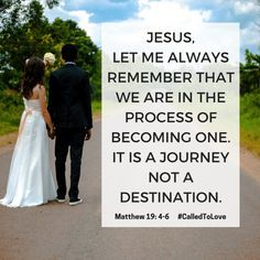 "You don't magically become ONE on your wedding day. It's a journey that begins with the ""I Do""."