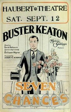 SEVEN CHANCES // usa // Buster Keaton 1925