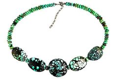 Spiderweb Turquoise Necklace