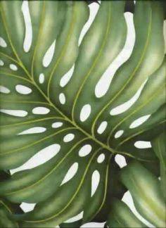 Ohana Cream Tropical Hawaiian Monstera Leaves on a cotton upholstery twill fabric.