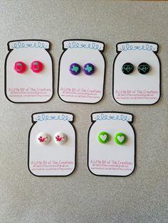 Perler Bead Earrings, Vinyl Earrings, Customizable Earrings, Colorful Earrings, Handmade Earrings