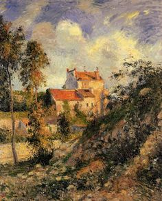 Les mathurins, Pontoise, 1877 - Camille Pissarro - by style - Impressionism