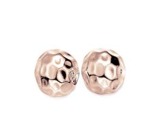 50% OFF TODAY ONLY Rose Gold Hammered Large Stud Earrings £20.00