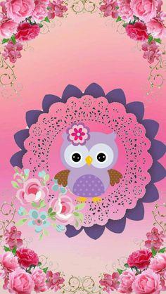 Wall paper desenho coruja Ideas for 2019 Cute Owls Wallpaper, Flamingo Wallpaper, Cover Wallpaper, Pretty Backgrounds, Wallpaper Backgrounds, Cellphone Wallpaper, Iphone Wallpaper, Owl Background, Owl Card