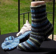 Mismatched Socks Knit Socks Knitted Socks Knitted Wool by djfleesh #CraftShout