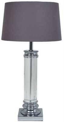RV Astley Nickel and Crystal Table Lamp - Base Only CFS £241