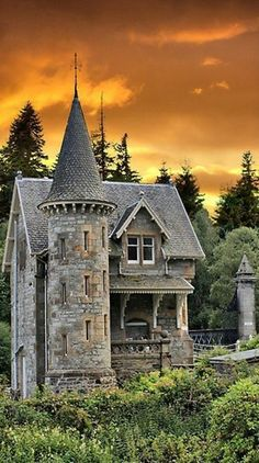 Fairytale gatehouse at the entrance to Ardverikie Estate in Kinloch Laggan, Scottish Highlands • photo: Sandra Cockayne on FineArtAmerica