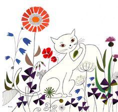 """avec lily, dessin/peinture """"à la manière de""""...Rica Takada"""
