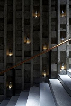 This could be a spa staircase. The candles turn it into a sensory experience