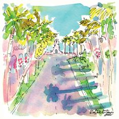 A postcard from the print designers via Palm Beach! #lilly5x5 #printspiration