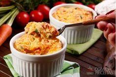 Receita de Souflê de legumes especial em receitas de sufles, veja essa e outras receitas aqui!