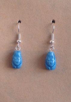Hand Painted Goddess Bead Earrings by tribeofthefaefolk on Etsy