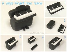 Here is an easy fondant piano tutorial cake topper for the musician in your family.