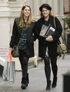 Beatrice, 27, and Eugenie, 25, were spotted enjoying a spot of shopping together in the So...