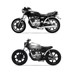 "641 Likes, 9 Comments - Independent Motorcycle Brand (@born_motor) on Instagram: ""Before and After #xs400 #yamaha #beforeandafter #motorcycle #custom #built #yamahacaferacers #brat…"""