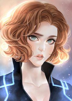 """Natasha Romanoff"" by luleiya Marvel E Dc, Marvel Girls, Marvel Heroes, Marvel Characters, Captain Marvel, Marvel Avengers, Marvel Comics, Mundo Marvel, Fantasy Characters"
