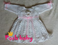 Baptism crocheted dress