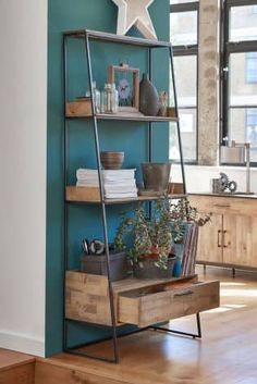 Buy Jefferson Ladder Shelf from the Next UK online shop Bookcase Shelves, Corner Shelves, Ladder Bookcase, Display Shelves, Cabinet Shelving, Wooden Shelves, Storage Shelves, Home Living Room, Living Room Furniture