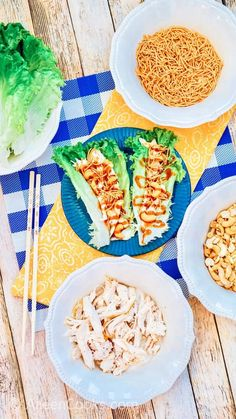 Asian chicken lettuce wraps are made with shredded chicken, cashews, crunchy chow mein noodles, and topped with a delicious teriyaki sauce. You are going to love healthy and easy chicken lettuce wraps made with leftover rotisserie chicken.
