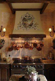 ornate kitchen hood detail