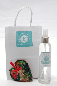 Mini Pack Navidad, corazon perfumado con aroma bebe, y un perfumador de 200 cc