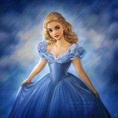 """daekazu: """" My artworks with the Moon motivated me to finish this Cinderella. In some way the Ball took place in the night of spells.It's insane but in February it's been 3 years since the movie's. Disney Live, Disney Fun, Disney Magic, Disney Movies, Walt Disney, Disney Characters, Disney Princesses, Cinderella Ballgown, Cinderella Art"""