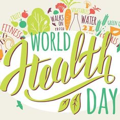 Its world health day! Lets all raise awareness together . Its world health day! Lets all raise awareness together . Health Snacks, Health Eating, World Health Day Theme, Wealth Quotes, Kidney Stones, Best Homemade Dog Food, Plant Based Eating, Health Lessons, A Day In Life