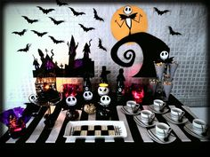 Jack Skellington at a Halloween party. See more party ideas at CatchMyParty.com.  #halloween #partyideas