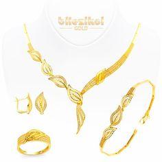 Yaprak 22 Ayar Altın Set Takımı 44,30 Gr. 22 ayar taşlı altın setler - Bilezikci Gold - Türkiye'nin Lider Kuyumcusu