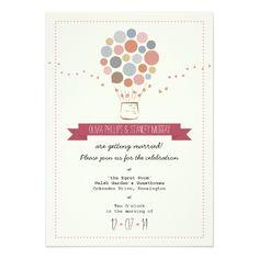 Simple Wedding Invitations Balloons Simple Wedding Invitation