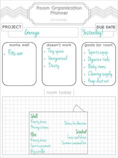 Free Room Organization Planner & Printable.