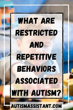 Autism Spectrum Disorder has many signs and traits. One of them is restricted and repetitive behaviors. Here is an article about what those behaviors are. #autismresources #autismawareness #autismacceptance #autismtherapy #autismtherapyathome #autismspectrumdisorder #autismsymptoms #autismspectrum #autismsigns #autismfacts