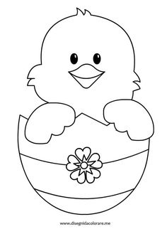 Easter chick pattern. Use the printable outline for crafts