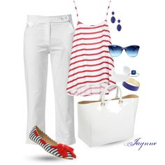 'Red, White & Blue Shoes', created by ladyjaynne on Polyvore