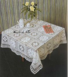 Crochet: 3 tablecloth for rectangular table