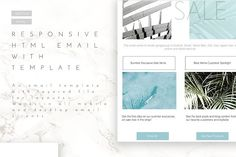 Email Template Layout with HTML by Aloha Philly on @creativemarket