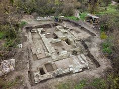The excavated ruins of the church of a medieval Bulgarian monastery discovered in 2014 by Prof. Hitko Vatchev at the foot of the Tsarevets Hill in Tarnovgrad (today's Veliko Tarnovo), capital of the Second Bulgarian Empire. Photo: Borba Daily