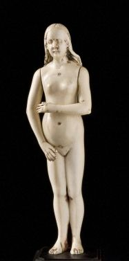 Ivory anatomical model of pregnant woman, Europe