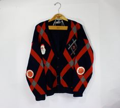 Ugly Christmas sweater navy blueDIY holiday by WindingRoadVintage, $28.00 #cleavage #santacon #nyc