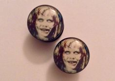 Regan / Exorcist Plugs – Hallow's Eve Boutique #halloween #horror #plugs #body #jewelry #piercings #gauge #body #modification #ear #stretching #666 #evil  #satan #demon #lucifer #devil #possessed #possession #theexorcist #regan #exorcism
