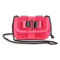 #fashion #style #ropa #moda #clothes #Purse Christian Louboutin - Sweet Charity Stud Leather Flap Bag