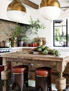 Chic modern moroccan kitchen    @pattonmelo