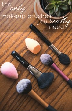 These truly are the only makeup brushes you'll ever need. These 5 makeup brushes will do everything you need them to do in your makeup routine!