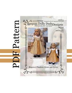 PDF Pattern KDD15 Regency Pinafore dress and by KeepersDollyDuds