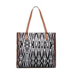 Black/White tribal handbag.