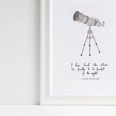 Our telescope art print seems to be a popular one for Christmas gifts  ... you can change the message to anything youd like!