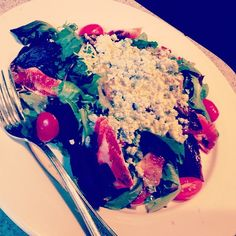 A little #bluecheese, some #beets and you have a great #salad! #longislandfoodie #eatlocal #eathealthy