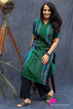 Hannah Princess Cut kurti - House of Ayana Simple Kurta Designs, Silk Kurti Designs, Salwar Designs, Kurta Designs Women, Kurti Designs Party Wear, Kurti Sleeves Design, Sleeves Designs For Dresses, Dress Neck Designs, Blouse Designs