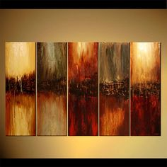 Large Contemporary Abstract Painting Modern Art by OsnatFineArt, $799.00